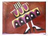 Girl with the Most Cake Giclee Print by Gina Bernardini