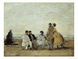 Personnages Sur la Plage Giclee Print by Eug&#232;ne Boudin