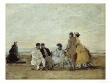 Personnages Sur la Plage Giclee Print by Eugène Boudin