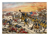 Washington's Charge at the Battle of Princeton Giclee Print