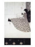 Seated Woman Impresso gicle por Aubrey Beardsley