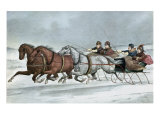 A Brush on the Snow Giclee Print by  Currier & Ives
