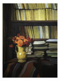 The Library Reproduction procédé giclée par Félix Vallotton