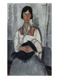 Gypsy Woman with Baby Giclee Print by Amedeo Modigliani