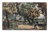 Home Sweet Home Giclee Print by Currier & Ives
