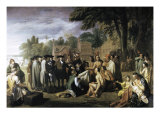 Penn's Treaty with the Indians Giclee Print by Benjamin West
