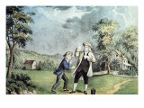 Franklin's Electricity Experiment Giclee Print by  Currier & Ives