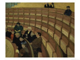 Third Level at the Theatre in Chatelet Giclee Print by F&#233;lix Vallotton