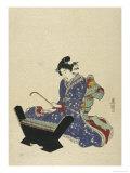 Mokkin, Wooden Xylophone Giclee Print by  Toyokuni