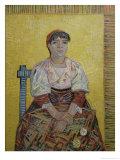 The Italian Woman (Agostina Segatori, Patron of the Cabaret, Le Tambourin), c.1887 Giclée-tryk af Vincent van Gogh
