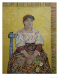 The Italian Woman (Agostina Segatori, Patron of the Cabaret, Le Tambourin), c.1887 Giclee Print by Vincent van Gogh