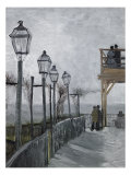 Terrace and Observation Deck at the Moulin Reproduction procédé giclée par Vincent van Gogh