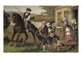 Minute Men of the Revolution Giclee Print by Currier &amp; Ives 