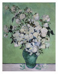 A Vase of Roses, c.1890 Giclée-trykk av Vincent van Gogh