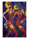 Tambourine Twins Giclee Print by Gina Bernardini
