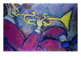 Trumpet Giclee Print by Gina Bernardini