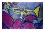 Trumpet Giclee Print by Gina Bernardini