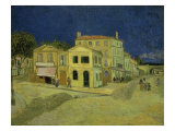 The Yellow House at Arles, c.1889 Reproduction proc&#233;d&#233; gicl&#233;e par Vincent van Gogh