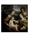 Mystic Marriage of St. Catherine with St. Sebastian Giclee Print by Correggio