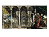 The Annunciation Giclée-tryk af Paris Bordone
