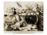 Molly Pitcher, Heroine of Monmouth Reproduction procédé giclée par Currier & Ives