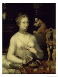 Lady at Her Dressing Table Giclee Print by  Masters of the Fontainebleau
