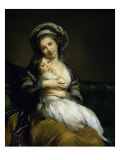 Portrait of the Artist with Her Daughter Giclée-Druck von Elisabeth Louise Vigee-LeBrun