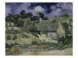 Thatched Cottages at Cordeville, Auvers-Sur-Oise, c.1890 Giclee Print by Vincent van Gogh
