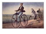 The (Bicycle) Velocipede Giclee Print by Currier & Ives