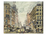 Broadway; from Cortlandt St. and Maidin Lane Giclee Print by  Currier & Ives