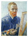 Self Portrait in Front of Easel Reproduction procédé giclée par Vincent van Gogh