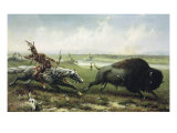 Buffalo Hunt Giclee Print by Frederick Walker