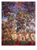 Trees in the Garden of Saint-Paul Hospital Reproduction procédé giclée par Vincent van Gogh
