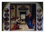 Annunciation Gicle-tryk af Mariotto Albertinelli