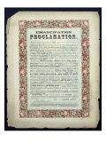 Emancipation Proclamation, 1862 Giclee Print