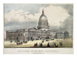 United States Capitol Giclee Print by  Currier & Ives