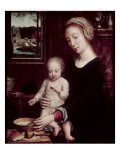 Madonna with Child Holding Spoon Giclee Print by Gerard David