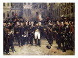 Napoleon's Farewell at Fountainbleau Premium Giclee Print by Horace Vernet
