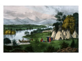 Scenery of the Upper Mississippi Giclee Print by  Currier & Ives