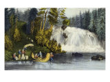 Falls Des Chats Giclee Print by  Currier & Ives