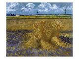 Wheatfield with Sheaves, c.1888 Giclee Print by Vincent van Gogh