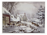 Winter Morning Giclee Print by  Currier & Ives