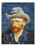 Self Portrait with Grey Felt Hat, c.1887 Reproduction procédé giclée par Vincent van Gogh