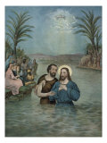 The Baptism of Jesus Christ Giclee Print by  Currier & Ives