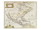 Antique Map Print of North America Giclee Print