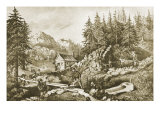 Gold Mining in California Giclee Print by  Currier & Ives