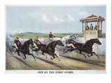 Off on the First Score Giclee Print by Currier & Ives