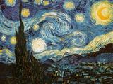 Stjärnklar natt, 1889 Gicléetryck av Vincent van Gogh