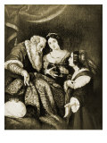 Esther Asks for Mercy for Her and Her People Giclee Print by Bernardo Strozzi