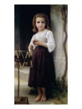 Child with a Ball of Wool Giclee Print by William Adolphe Bouguereau